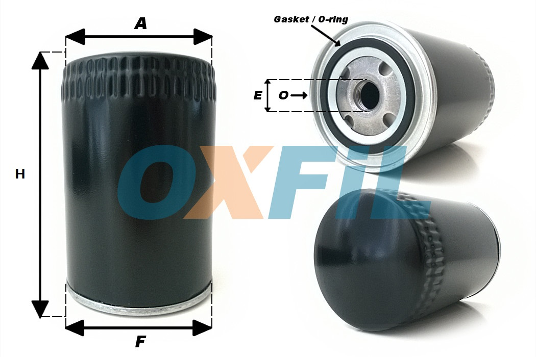 OF.9005 Oil Filter dimensions